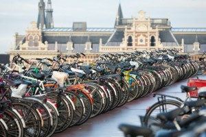 biking in Amsterdam 300x200 Top 5 Bike Friendly Cities in Europe