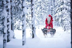 One excursion available is to visit Father Christmas, who, according to legend, lives in Lapland.