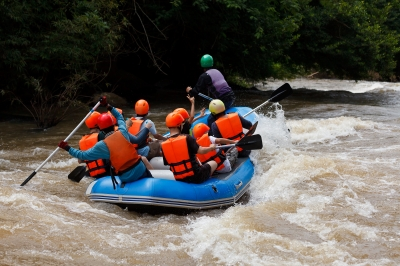 Water Rafting In The River