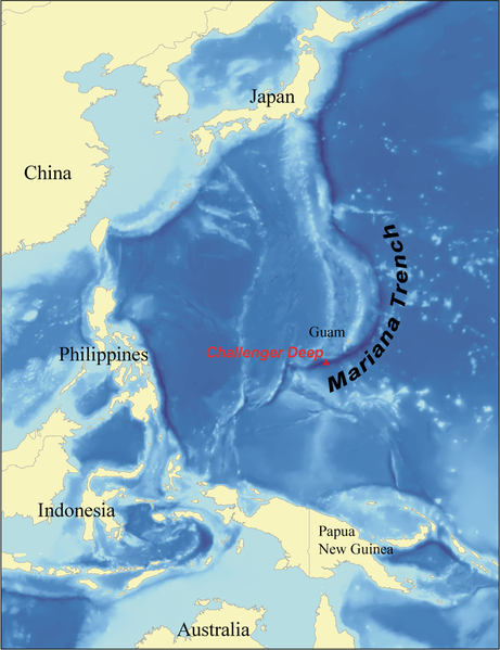 Mariana Trench near Philippines