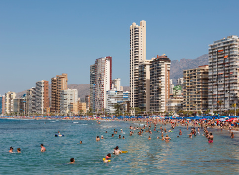 Benidorm, Costa Blanca, Spain. Levante beach.