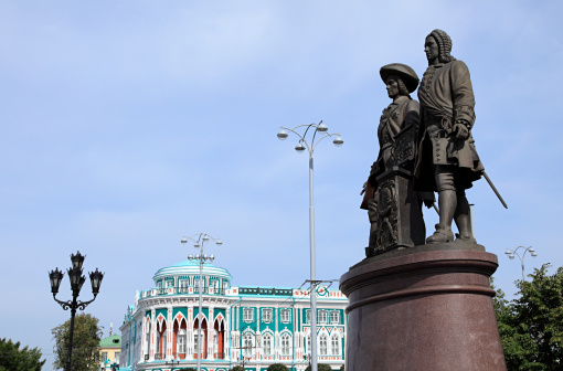 Statue of founders of yekaterinburg