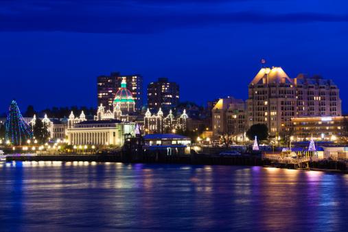 Victoria Canada at night