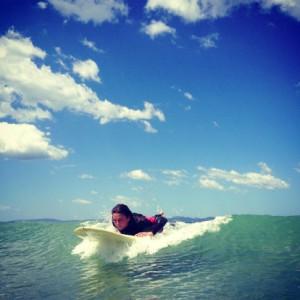 Surfing travel adventure